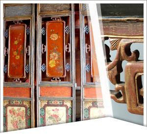 Mobilier chinois ancien - Paravent
