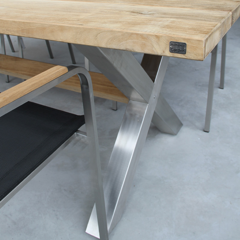 stunning table de jardin teck et inox pictures awesome