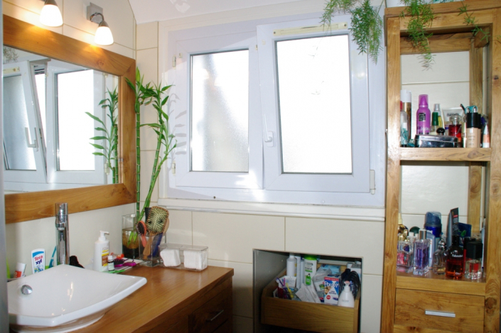 Salle de bain teck massif