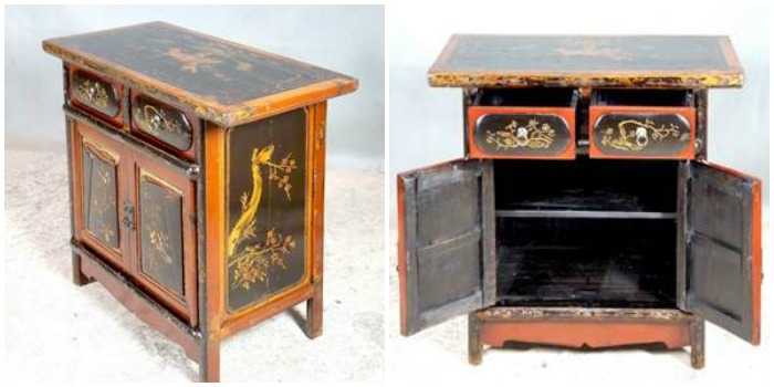 meubles chinois anciens table de lit a roulettes. Black Bedroom Furniture Sets. Home Design Ideas