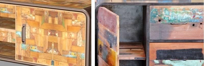 Copie / Original de meubles industriels : la vérité de la matière et de la couleur.