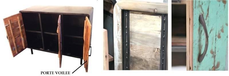 A gauche, les portes de la copie sont mal construites et déjà voilées. A droite, les portes de l'original sont renforcées par des rails en fer forgé.