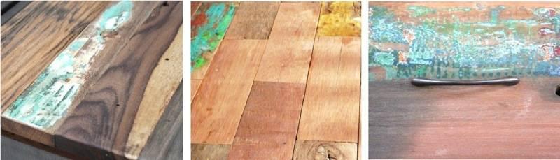 Variation de matières. Un vrai meuble industriel est en fait totalement artisanal.