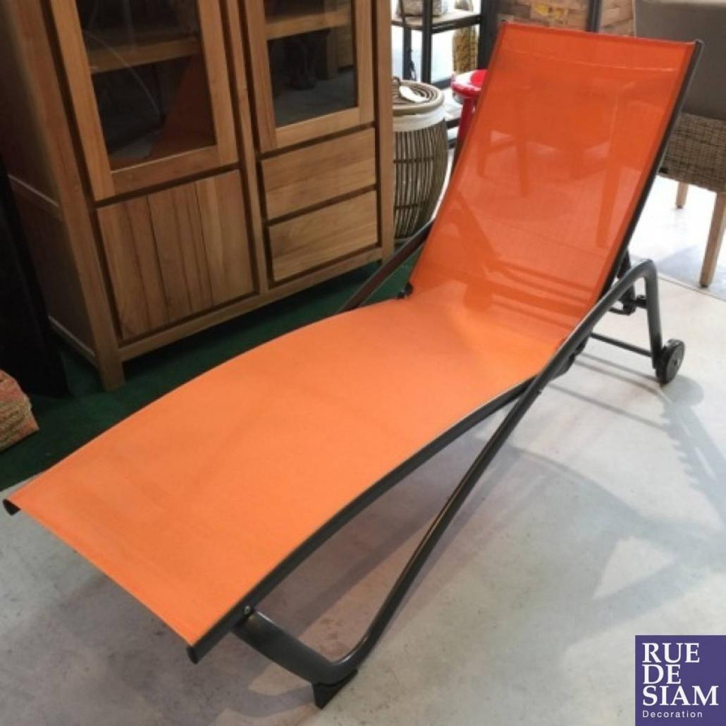 Mobilier de jardin - Chaise longue aux lignes épurées