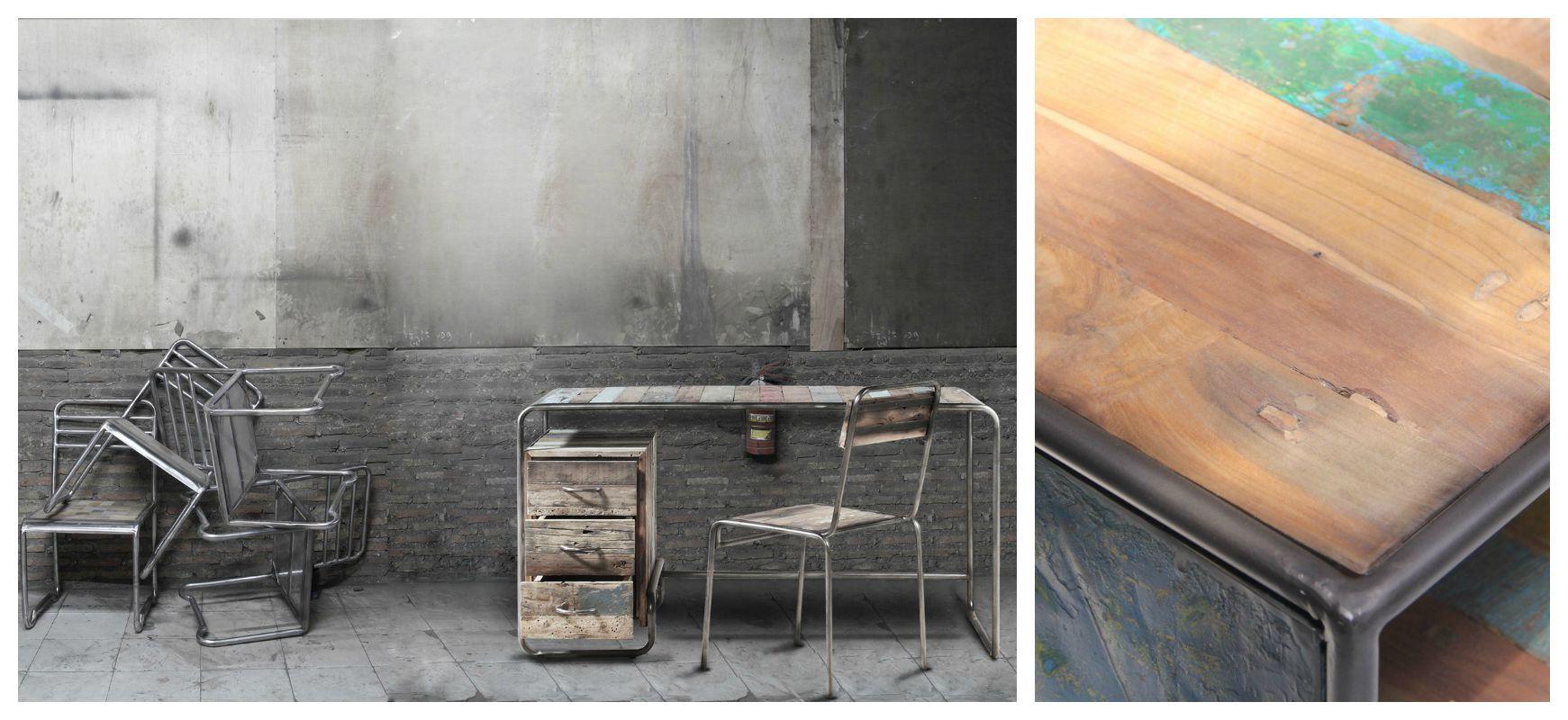 tendance loft 2016 meubles design industriel en bois et m tal rue de siam. Black Bedroom Furniture Sets. Home Design Ideas