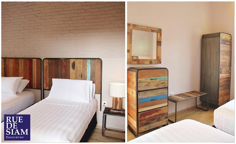Conseil d co meubles de style loft industriel chez vous rue de siam - Chambre industriel deco ...