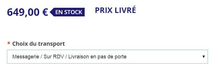 """Rue de Siam - Livraison """"Messagerie"""" en pas de porte"""