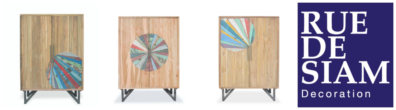 Nouvelle collection OKA - Des meubles industriels tous différents et présentés en pièces uniques numérotées.