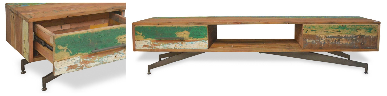 Nouvelle collection OKA - Superbe piétement de ce meuble TV de style industriel.