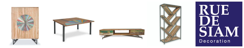 Nouvelle collection OKA - Meubles industriels en bois massif recyclé, et acier.