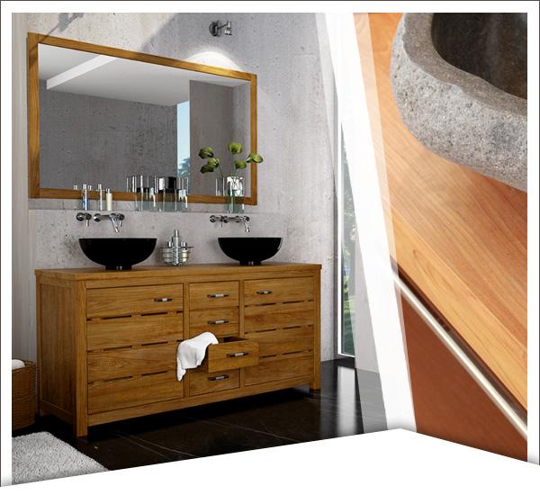 Mobilier en teck - salle de bain