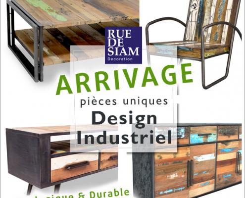Rue de Siam - Arrivage de mobilier industriel (Février 2017)