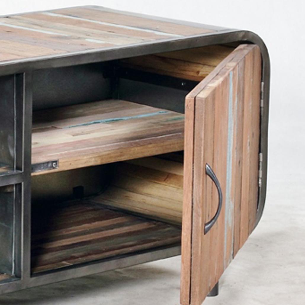Meuble tv de style industriel carina de conflans sainte for Collection meuble industriel
