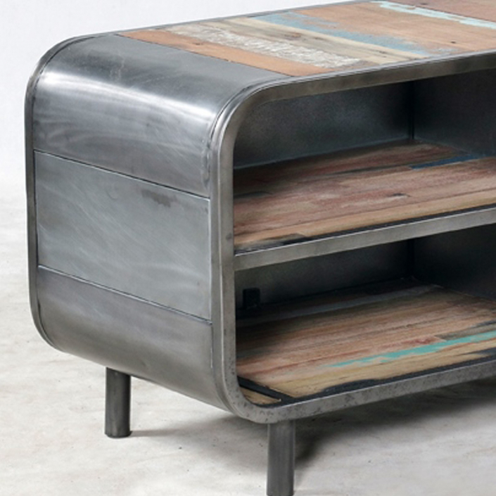 meuble tv de style industriel carina de conflans sainte. Black Bedroom Furniture Sets. Home Design Ideas