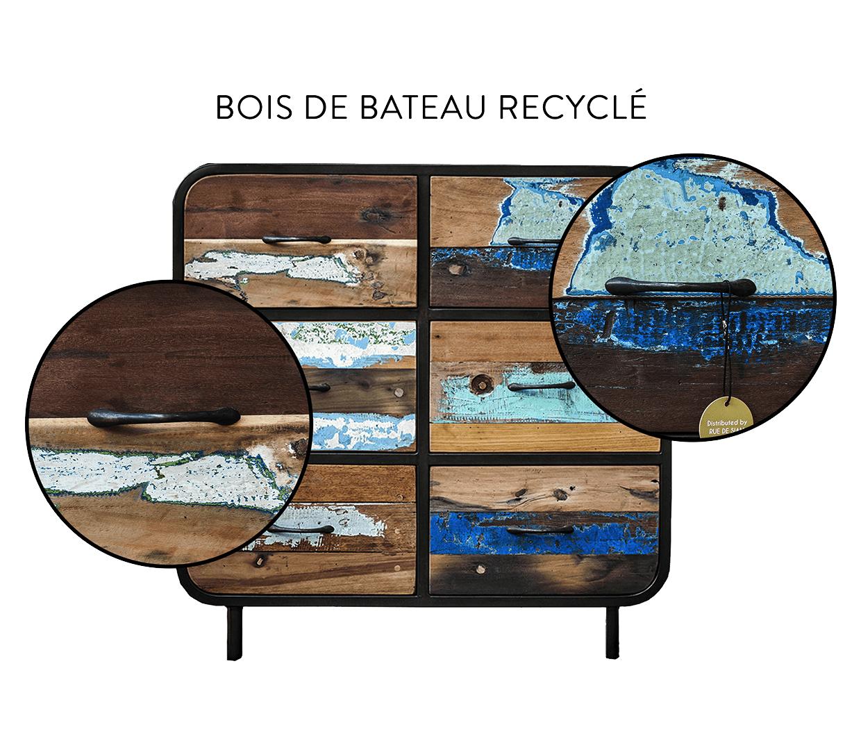 Pr Sentation Blog De Mobilier Industriel Rue De Siam Brest # Meuble Bois Recycle Bateau
