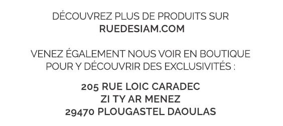 Découvrez plus de produits sur RUEDESIAM.COM - Venez également nous voir en boutique pour y découvrir des exclusivités.