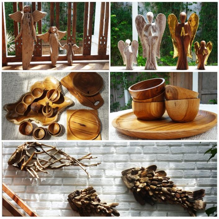 Pour un salon plein d'esprit, accrochez à vos murs poissons et anges en bois flottés, garantis d'attirer le Père Noël.