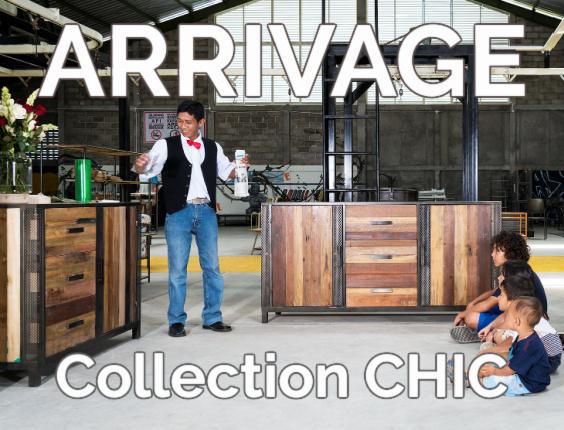 Arrivage de meubles en vieux teck de la collection CHIC
